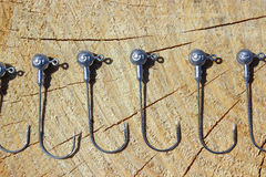 Fishing hooks Stock Image