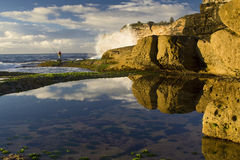 Fishing hor reflection Stock Photo