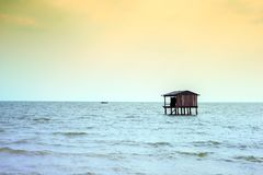 Fisherman house coasts of Asian countries Royalty Free Stock Photo