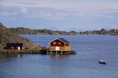 Fishing house on Lofoten Royalty Free Stock Photography