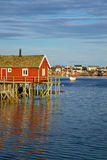 Fishing house on Lofoten Stock Photography