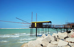 Fishing house at the sea Stock Photography