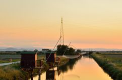 Fishing houses Royalty Free Stock Images