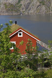 Fishing hut in Norway Royalty Free Stock Image