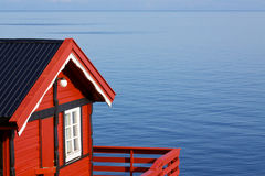 Fishing hut by sea Royalty Free Stock Images