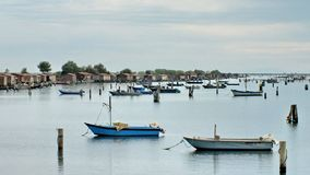 Free Fishing Huts And Boats In The Delta Del Po, Italy Stock Images - 165238034