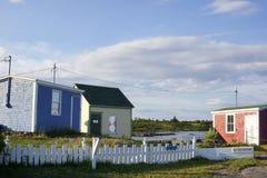 Free Fishing Huts, Blue Rocks, Nova Scotia Royalty Free Stock Photography - 35214347
