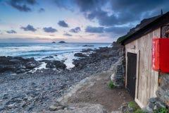 Fishing Huts Royalty Free Stock Photography