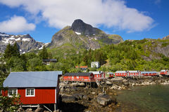 Fishing huts on Lofoten Stock Images
