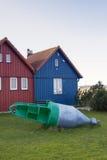 Fishing Huts Royalty Free Stock Photo