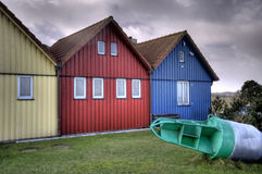 Fishing Huts Royalty Free Stock Photos