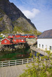 Fishing huts in Norway Royalty Free Stock Photography