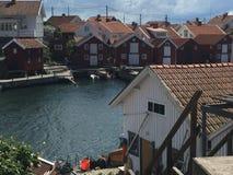 Fishing huts. Old fishing huts on Gullholmen Stock Photos