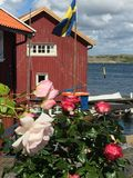 Fishing huts. Old fishing huts by Gullholmen Stock Photography