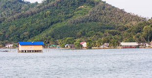 Fishing huts Stock Images