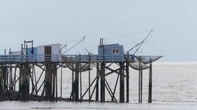 Fishing huts of Talmont-sur-Gironde stock photos