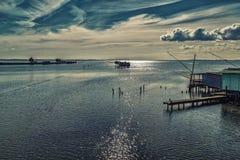 Free Fishing Huts With Netfish Stock Photography - 67336672