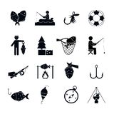 Fishing Icon Black Royalty Free Stock Photo