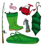 Fishing icon collection 2. Vector illustration Stock Image