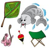 Fishing icon collection Stock Photo
