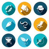 Fishing icon collection Royalty Free Stock Photos