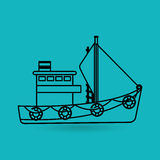 Fishing icon design. Fishing concept design,  illustration eps10 graphic Royalty Free Stock Images