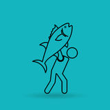 Fishing icon design. Fishing concept design,  illustration eps10 graphic Stock Image