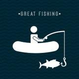 Fishing icon Stock Photo