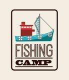 Fishing icon Royalty Free Stock Photo