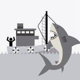 Fishing icon Stock Image