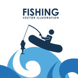 Fishing icon Stock Images