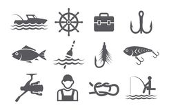 Fishing Icons Stock Photos