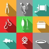 Fishing-icons Royalty Free Stock Images