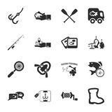 Fishing 16 icons universal set for web and mobile. Flat Vector Illustration