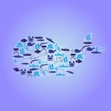 Fishing icons whale symbol. Eps10 Stock Photos