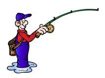 Fishing illustration Stock Photos