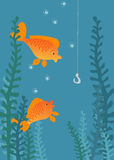 Fishing illustration. Stock Image