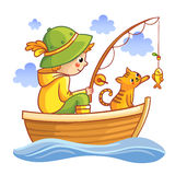 Fishing  illustration. Royalty Free Stock Images
