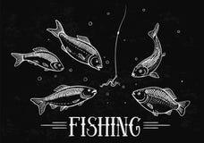Fishing Illustration. Stock Photos