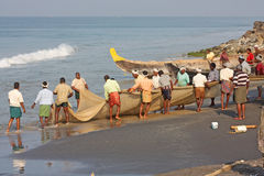 Fishing in India Stock Images