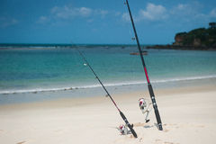 Fishing in Indian ocean Stock Images