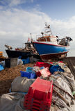 Fishing industry England trawler boat Royalty Free Stock Photography