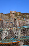 Fishing industry hastings funicular lift tram Royalty Free Stock Image