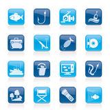 Fishing industry icons Royalty Free Stock Photo