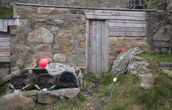 Fishing industry paraphenalia stock photos
