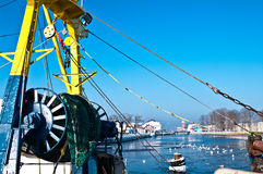 Fishing industry in winter  Stock Images