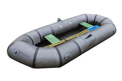 Fishing inflatable boat Royalty Free Stock Photography