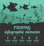 Fishing infographic elements. Set elements for creating your own Royalty Free Stock Photos