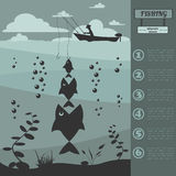 Fishing infographic elements. Set elements for creating your own Royalty Free Stock Photo