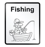 Fishing Information Sign Stock Photography